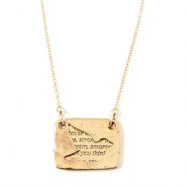Love Note Bird Necklace (gold)