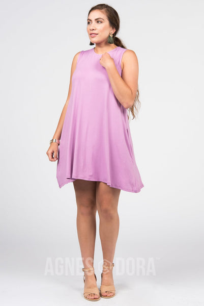Agnes & Dora™ Swing Tunic Tank Light Lilac