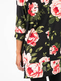 Agnes & Dora™ Deep Pocket Tunic Perennial Rose - Vintage Black