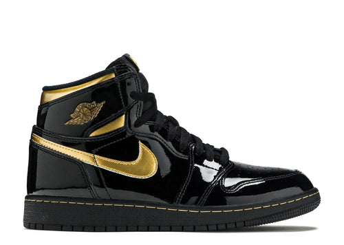 Air Jordan 1 Retro High Black Metallic Gold (GS)