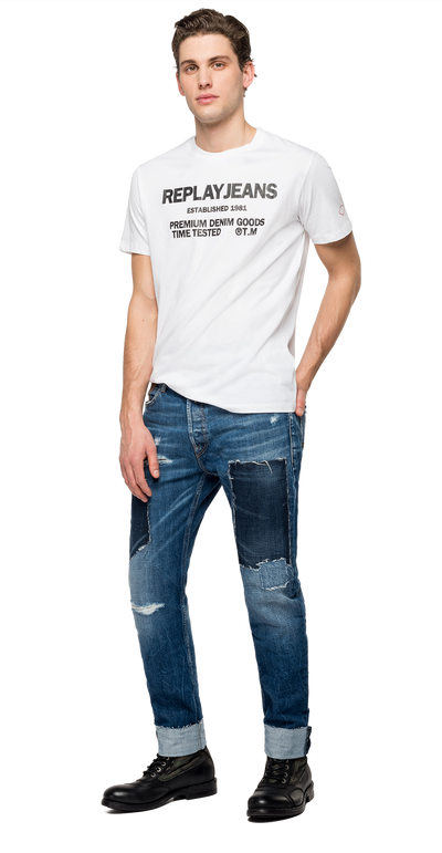 Replay-Jeans-Crewneck-T-Shirt-White-M3178-.000.22980P-001