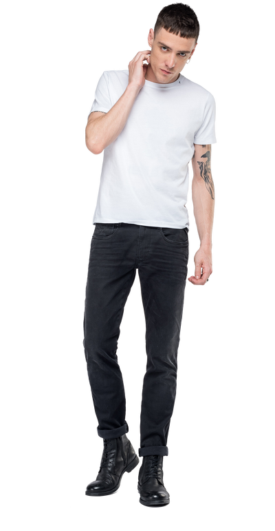 Replay-Slim-Fit-Hyperflex-Clouds-Anbass-Jeans-Black-M914-.000.661-E01-098