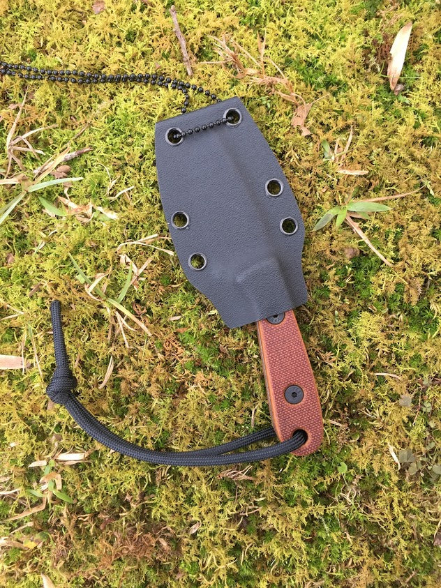 Last Ditch Necker - 1095 - Brown Micarta - Sold Out