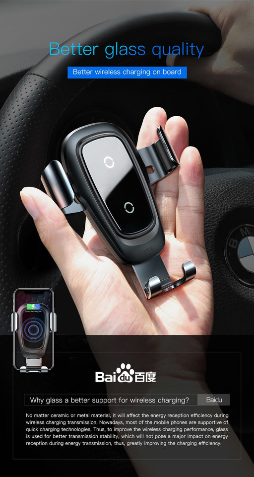 Mobile Holder for Car with Wireless Charger