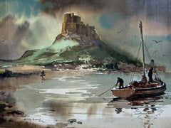 Approaching storm, Holy Island