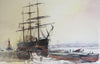 Barque Approaching The Jetty - The Wallington Gallery