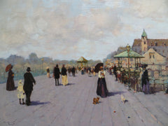 Promenade and two dogs