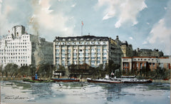 The Savoy Hotel, from The South Bank