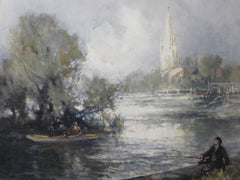 Fishing, Marlow on the Thames
