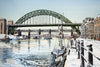 Newcastle Quayside and Bridges, Winter - The Wallington Gallery