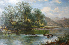 Fishing on a Welsh River