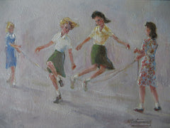 Skipping girls