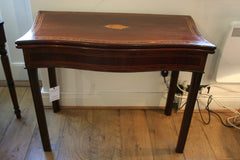 Georgian Serpentine Fronted Card Table