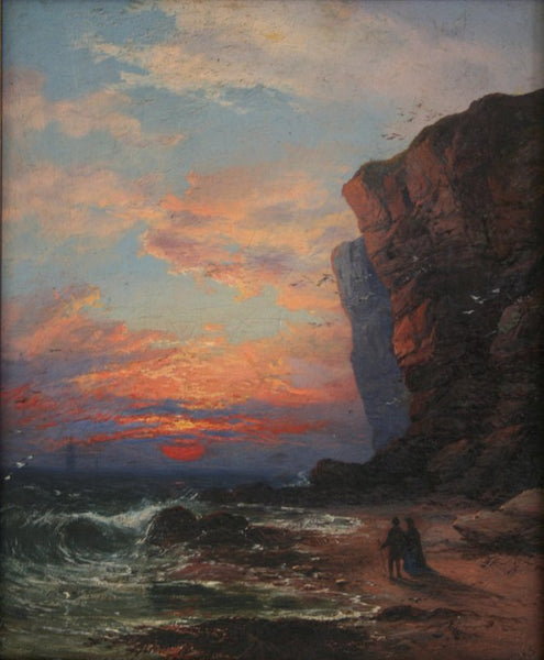 Sunset,  a scene from The Antiquary