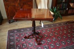Victorian Flame Mahogany Side Table