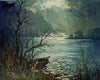 Moonlight over Derwentwater, Cumbria - The Wallington Gallery