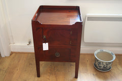 Georgian mahogany Tray Top Bedside Cabinet