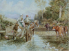 Crossing The Stream - The Wallington Gallery
