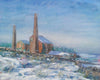Stublick Chimneys in the Snow from the South - The Wallington Gallery