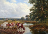 Cattle by a River - The Wallington Gallery