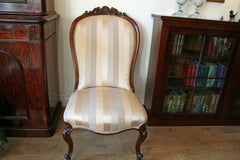 Victorian Mahogany Framed Occasional Chair