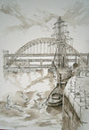 Tyne Bridges and Boats - The Wallington Gallery