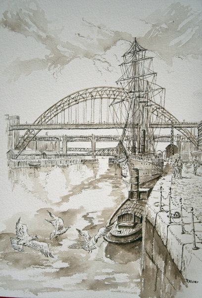 Tyne Bridges and Boats