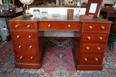 Victorian Walnut Twin Pedestal Desk