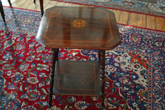 Victorian Inlaid Rosewood Occasional Table