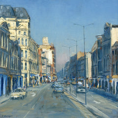 Cardiff, Morning on St. Mary's Street