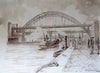 Busy Quayside, Boats and Bridges, Newcastle - The Wallington Gallery