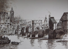 The Medieval Bridge Newcastle Upon Tyne C. 1760