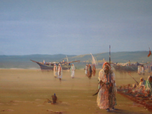 Tribesman on a beach North Africa