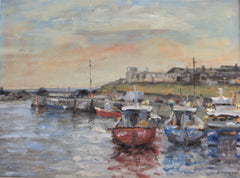Moored boats at Seahouses