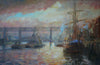 Tall Ship on the Tyne with Swing Bridge and High Level - The Wallington Gallery