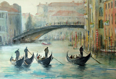 The Gondoliers,Venice