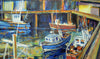 Fishing boats at North Shields - The Wallington Gallery