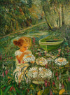Little Girl with Water Lilies - The Wallington Gallery