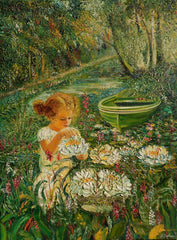 Little Girl with Water Lilies