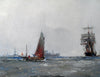 Sailing vessels in the North Sea