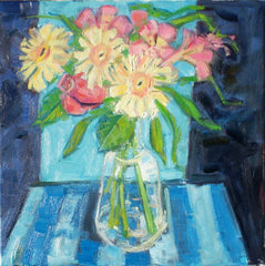 Spring Flowers in a Carafe