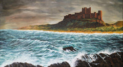 Storm gathers at Bamburgh