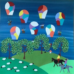 Balloons in the countryside