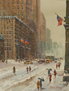 Winter, 5th Avenue, New York - The Wallington Gallery