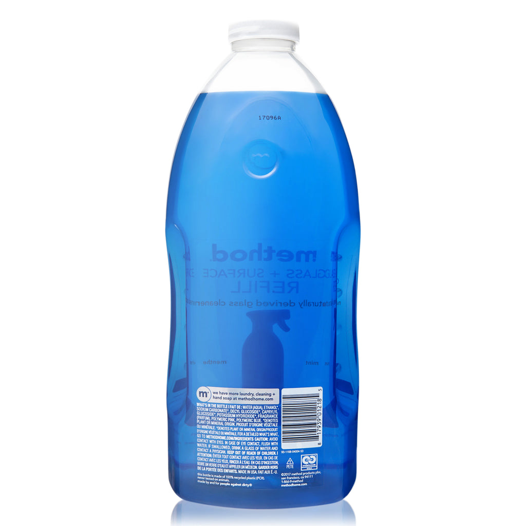 glass + surface cleaner refill mint 2 litres – method®