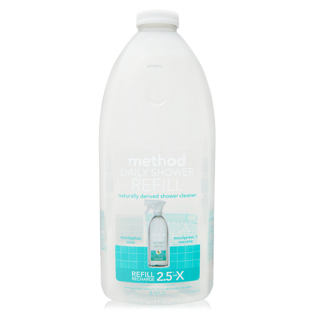 daily shower cleaner refill eucalyptus mint 2 litres