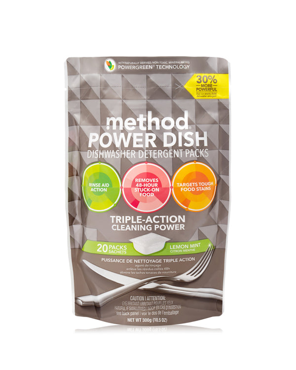 power dish tablets lemon mint 20 tabs