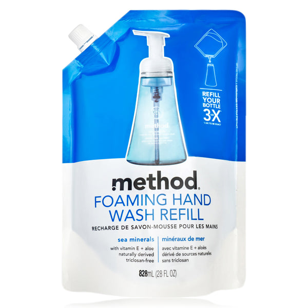 foaming hand wash refill sea minerals 828ml