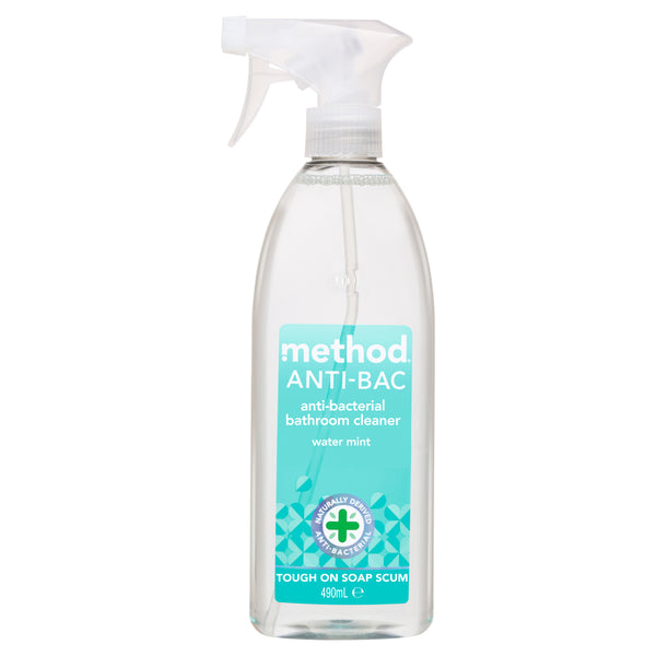 anti-bac bathroom cleaner water mint 490ml