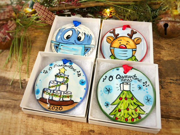 The Nola Watkins Collection™ Covid-19 (Pick Your Ornament Package 4 Ornaments)-Customized Funny 2020 Quarantine Christmas Ornaments - The Nola Watkins Collection